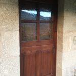 Puerta teca exterior Paradela